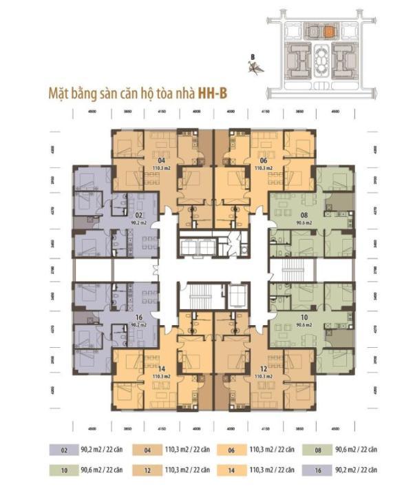 mặt sàn chung cư tân tây đô tòa hhb