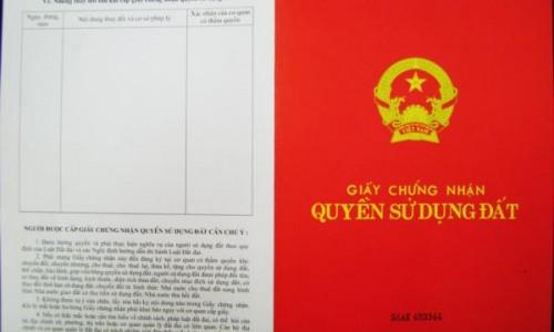 Cấp sổ đỏ cho dự án The Pride, Tân Tây Đô.